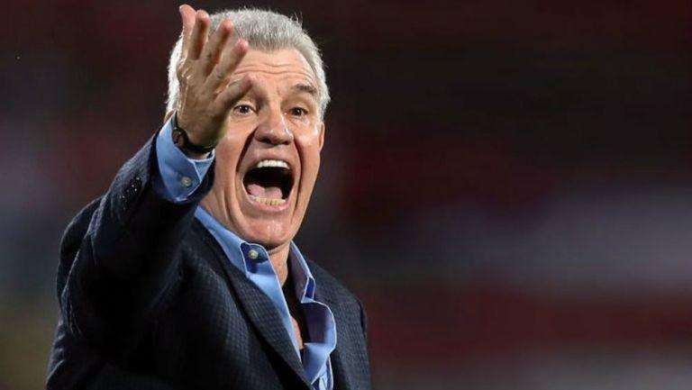 Javier Aguirre durante un juego de la Liga de España
