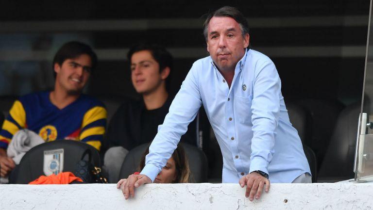 Emilio Azcárraga en partido del América