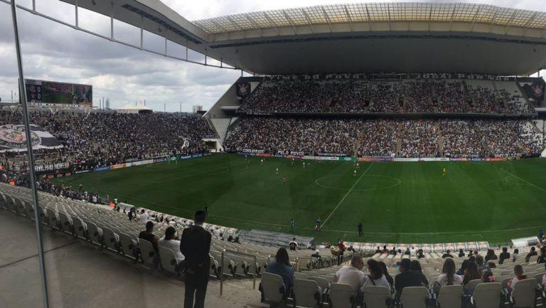 Así lució el estadio de Corinthians ante Sao Paulo