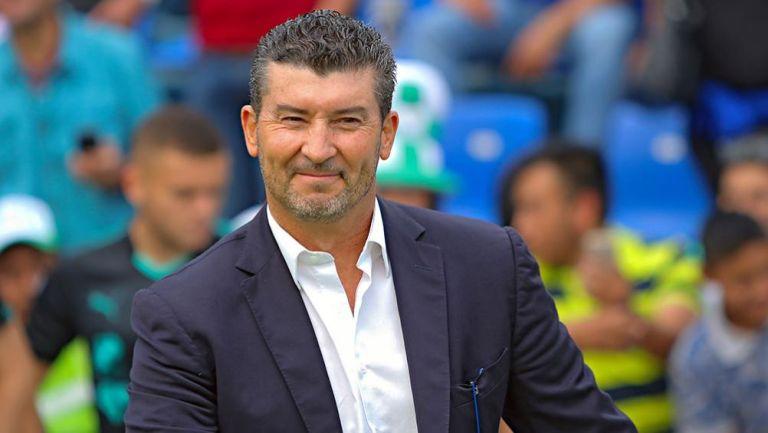 José Manuel de la Torre, durante un partido
