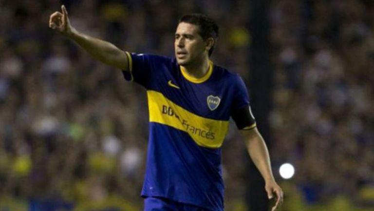 Juan Román Riquelme durante un juego con Boca Juniors