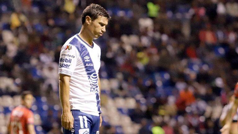 Matías Alustiza lamenta una falla con Puebla