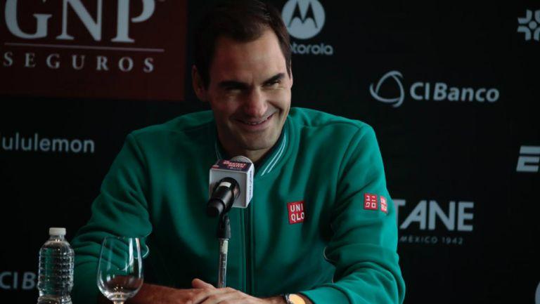 Roger Federer en conferencia de prensa previo al partido en México