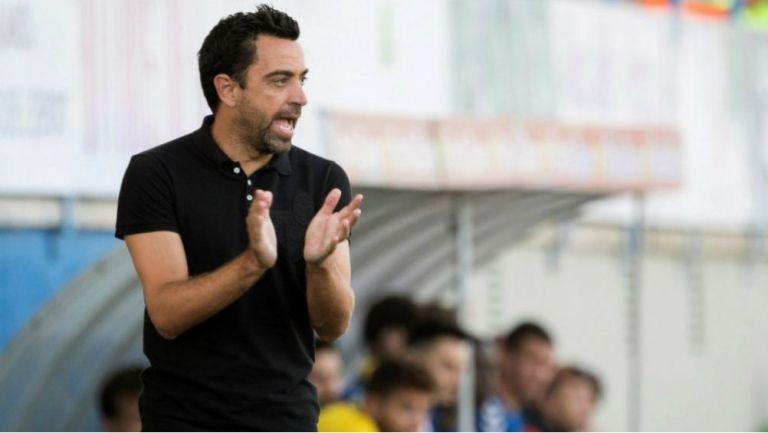 Xavi Hernández como entrenador del  Al Sadd qatarí