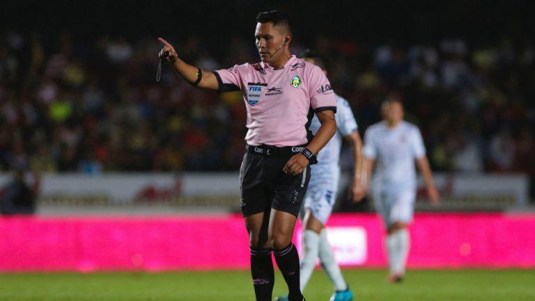 Fernando Guerrero en el partido entre Veracruz y América