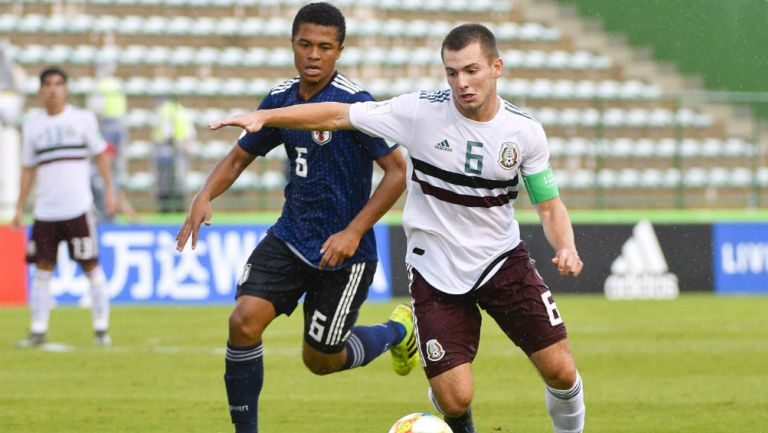 Eugenio Pizzuto en acción con la Selección Mexicana en Brasil 2019