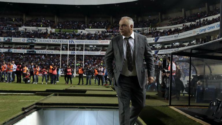 Memo Vázquez antes de un partido del Necaxa