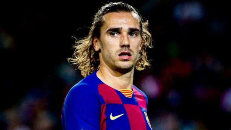 Grizmann, durante un partido del Barcelona