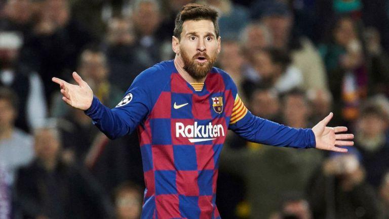 Leo Messi durante un duelo con el Barcelona