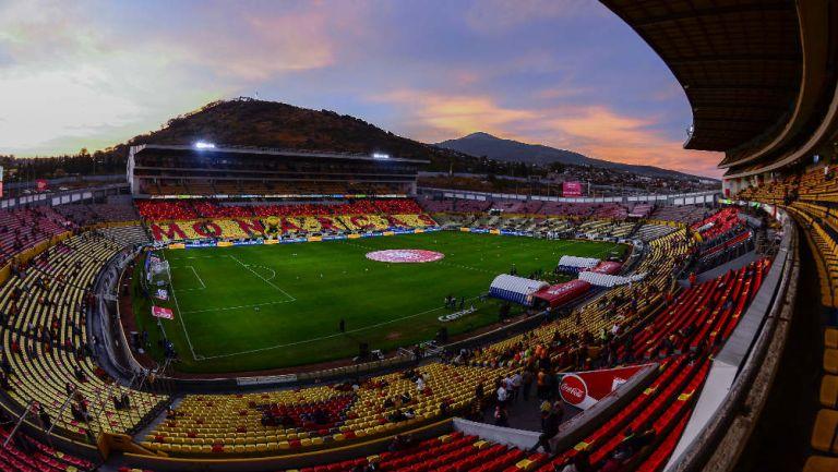 El Estadio Morelos antes de un partido de Monarcas