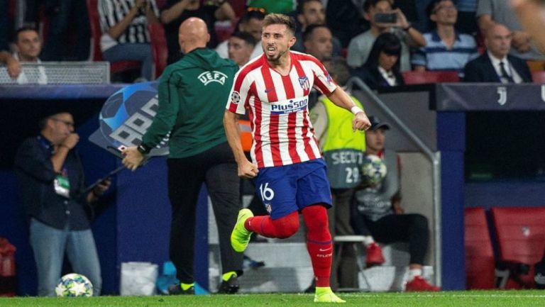 Héctor Herrera celebrando su anotación con Atlético de Madrid