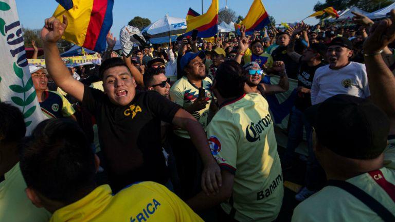 Afición de América previo al partido ante Morelia