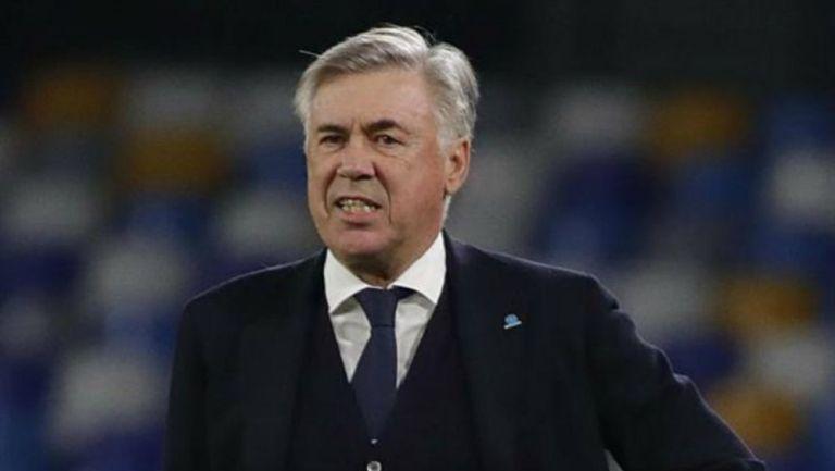 Carlo Ancelotti, durante un partido del Napoli