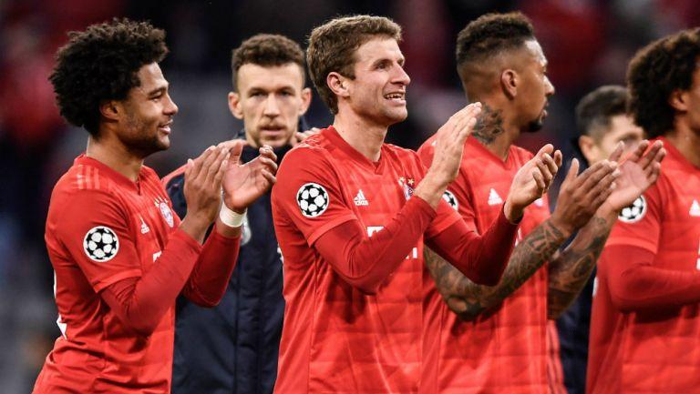 Jugadores del Bayern Múnich durante el partido ante Tottenham