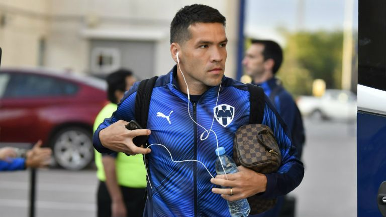 Celso Ortiz en llegada con Monterrey