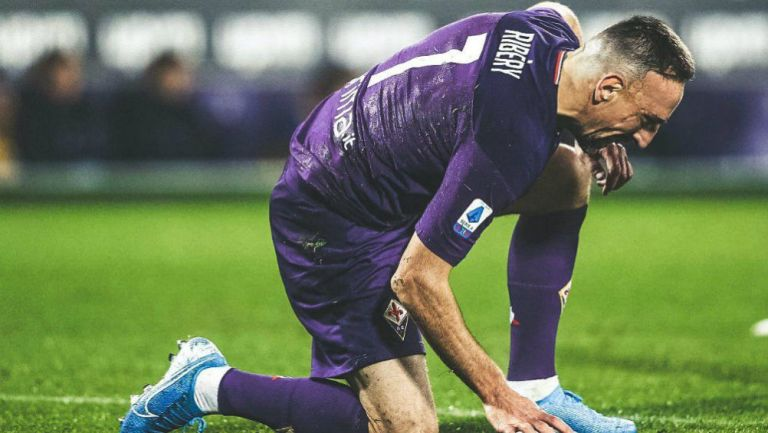 Ribery, durante un partido de la Fiorentina