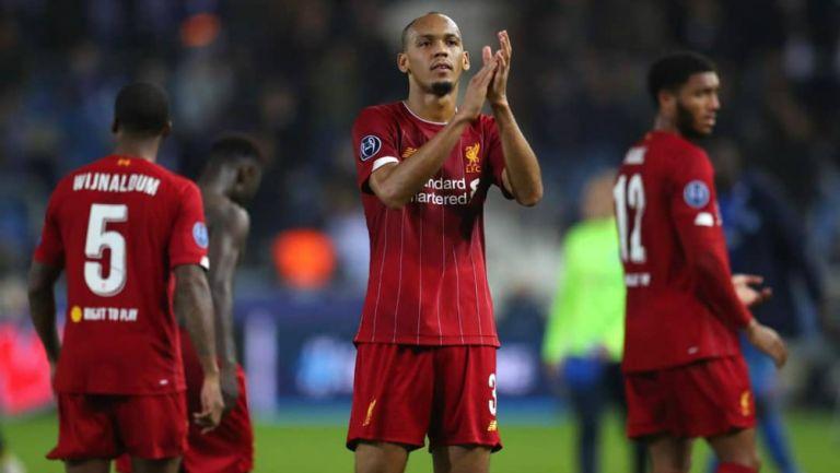 Fabinho durante un partido del Liverpool