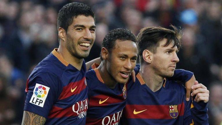 Messi y Neymar, en la espectacular fiesta de Luis Suárez