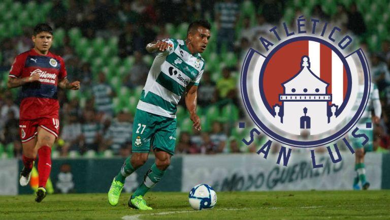 Cortés en un juego con Santos en 2019
