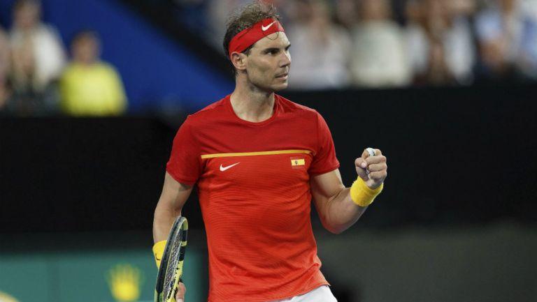 Rafael Nadal, tras obtener el triunfo en la ATP Cup