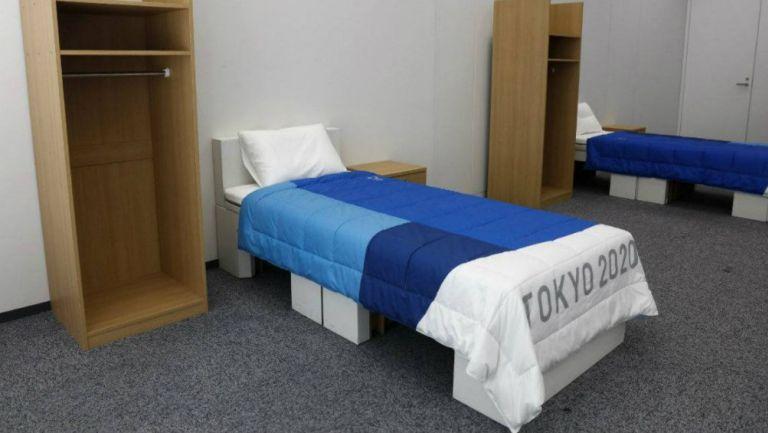 Estas son las camas individuales en la Villa Olímpica
