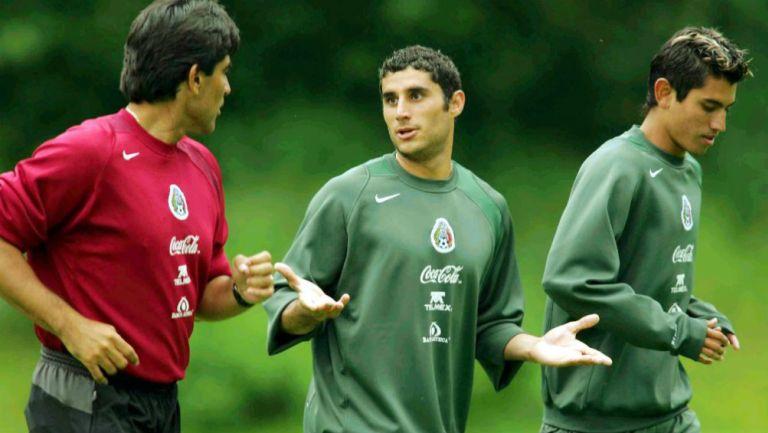 Jugadores, de la Selección en una práctica