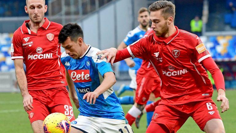 Hirivng Lozano y el Napoli vencieron en la Copa de Italia