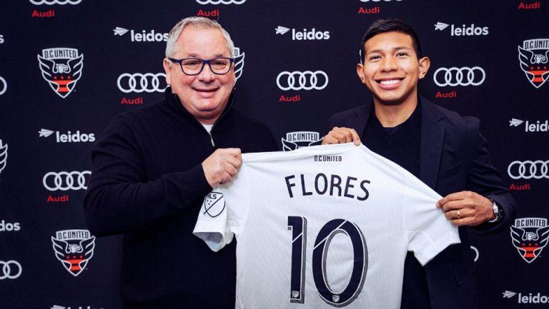 Edison Flores en su presentación con DC United