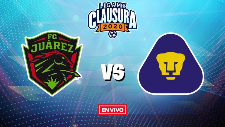 Saqueo Lima Insustituible  FC Juárez vs Pumas Liga MX en vivo y en directo Jornada 2 Clausura 2020