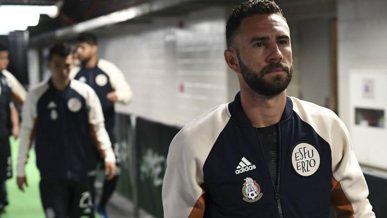Miguel Layún previo a un partido con México