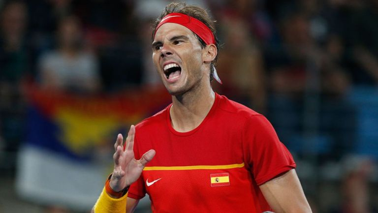 Nadal lanza un grito en el ATP Cup