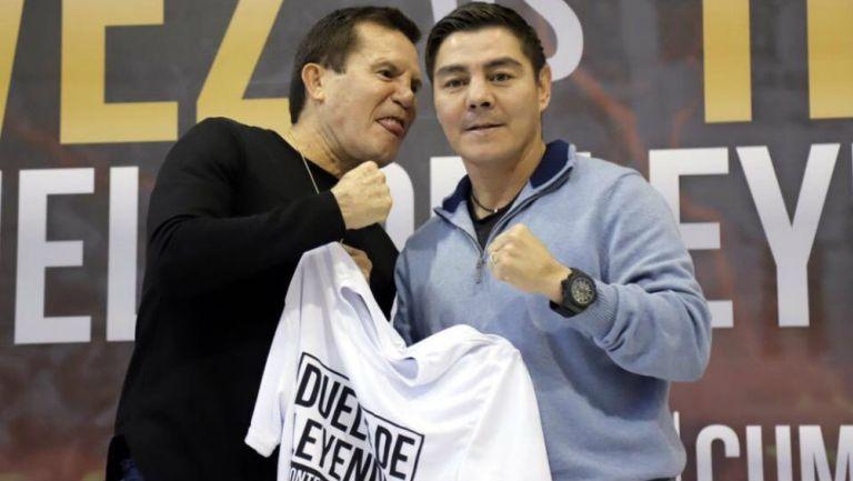 Julio César Cháves y Jorge Arce presentaron segundo combate