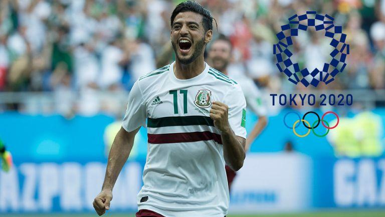 Carlos Vela celebra un gol con el Tricolor