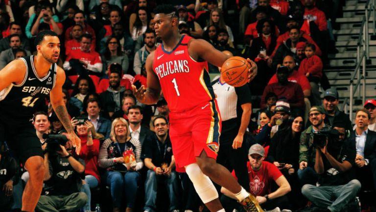 Zion Williamson en su debut con los Pelicans