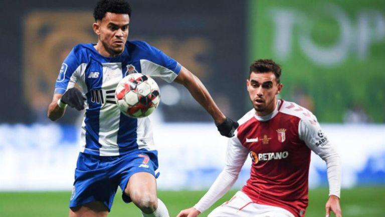Luis Diaz, durante el partido ante el Braga
