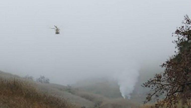 Neblina en la zona de Calabasas, lugar del accidente de Kobe Bryant