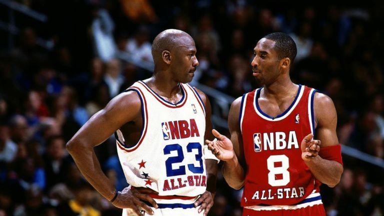Jordan y Bryant, durante un juego