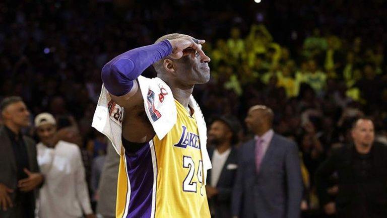 Kobe en un partido de los Lakers