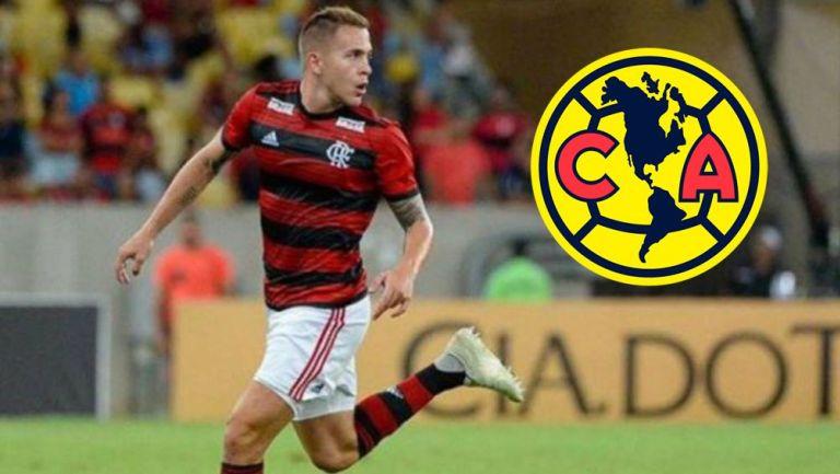 Robert Piris en acción con Flamengo