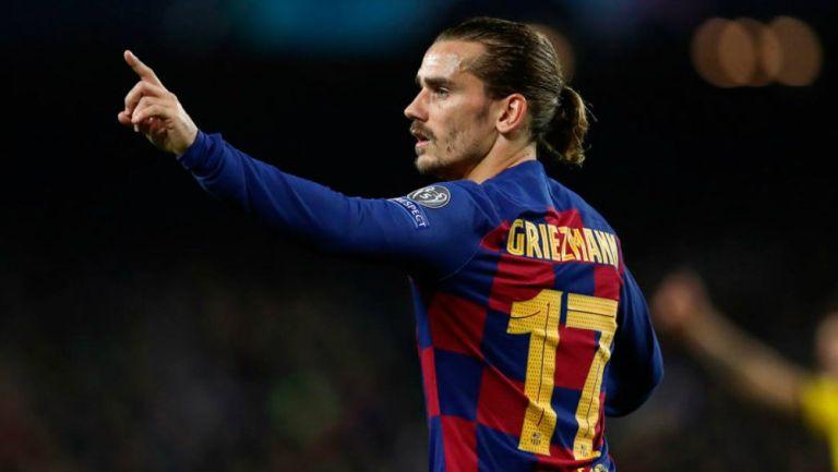 Griezmann jugando con Barcelona