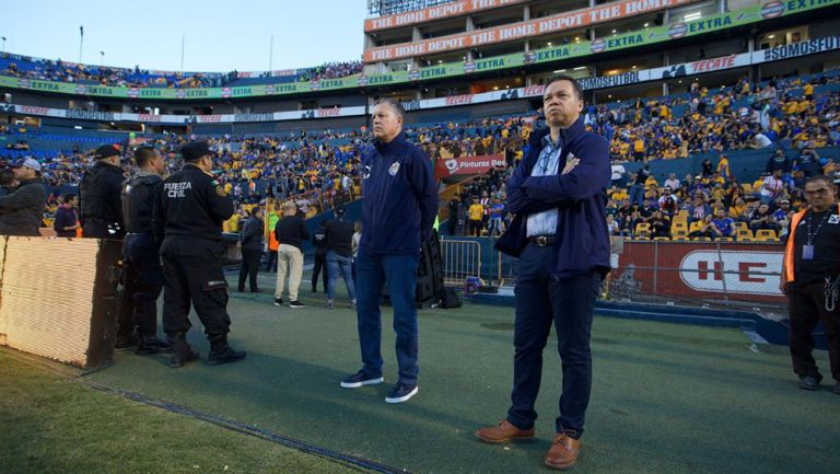 Ricardo Peláez, durante el Tigres vs Chivas