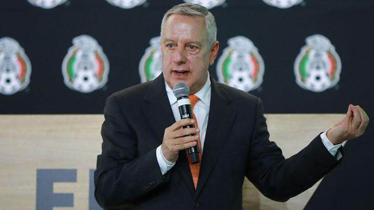 Arturo Brizio, en una conferencia de prensa