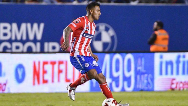Javier Cortés durante un partido del Atlético de San Luis