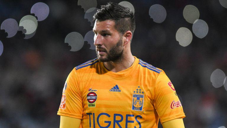André-Pierre Gignac durante un partido de Tigres