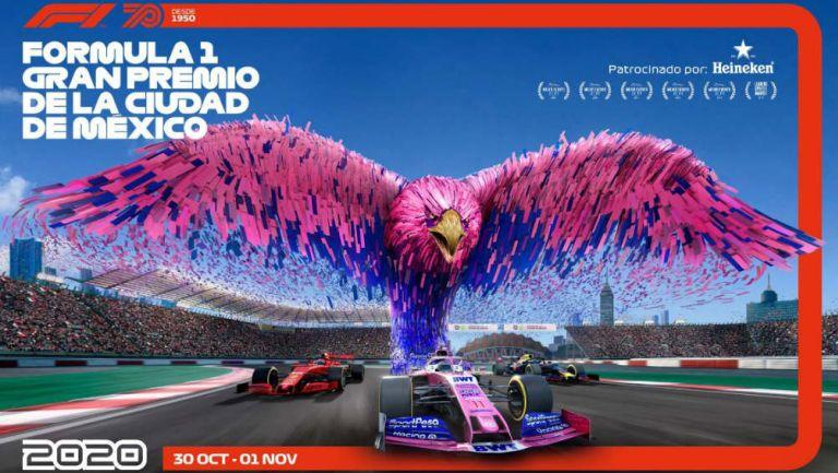 Uno de los pósters del Gran Pemio de México