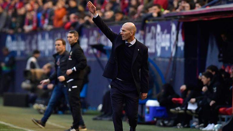 Zidane, en un partido del Real Madrid