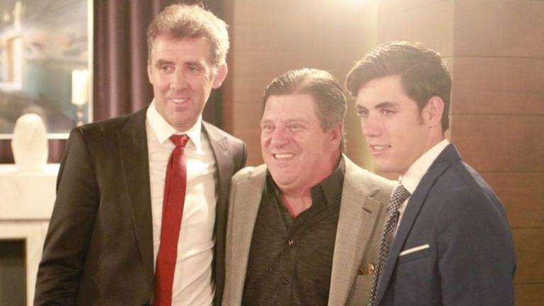 Piojo posa junto a Pablo Hermoso y Guillermo Hermoso