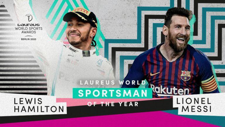 Leo Messi y Lewis Hamilton compartieron el premio Laureus en Berlín