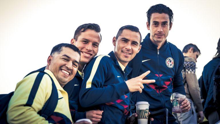 Jugadores del América antes de viajar a Guatemala