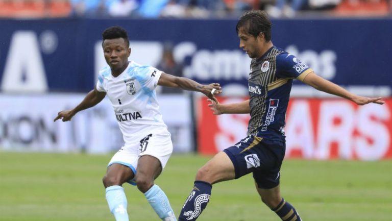Clifford Aboagye, durante el partido ante San Luis